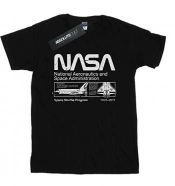 Camiseta Nasa negra program negra